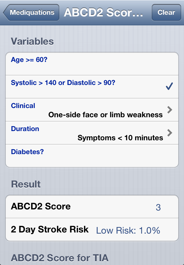Mediquations Medical Calculator Screenshot 4